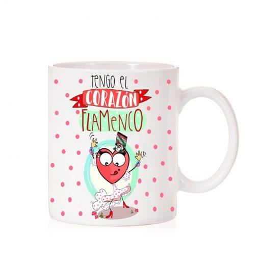 Taza tengo el corazón flamencoi